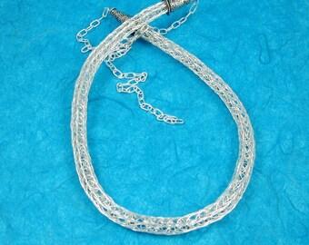 Sterling Viking Knit Necklace