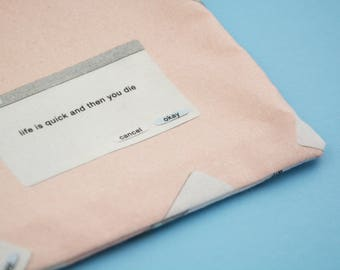 Existential Dialogue Boxes Pouch