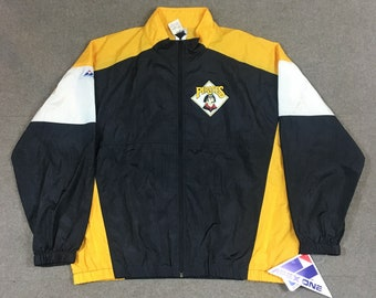 VTG Apex One Pittsburgh Pirates Full Zip Windbreaker Jacket MLB New With Tags Adult XL