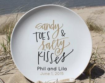 Destination wedding Personalized Plate, Anniversary, Family Plate Word Art Custom Plate:   Wedding, Anniversary, Family. Name and Date 59