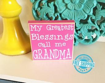 Grandma Gift- Greatest Blessings Call Me Grandma, Nana Gift, Mimi Gift, Mother's Day Gift, Grammy Gift, Grandparent Gift, Mother's Gift