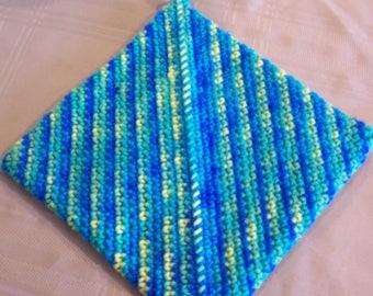 Crochet Potholder, Crochet Hotpad, Potholder, Trivet, Hot Pad, Home Decor, Housewarming Gift