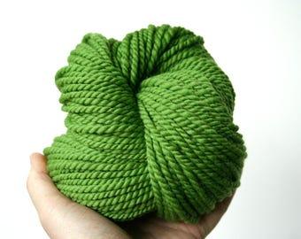 """Handspun Yarn - """"Clover"""" - Merino Wool Yarn - Bulky Yarn - Felicity Yarn"""