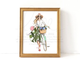 Hydrangea Hunt (Fashion Illustration Print)