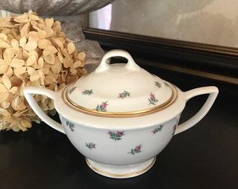 Rambler Rose Sugar Bowl Royal Jackson Vintage Fine China ~ #F5023