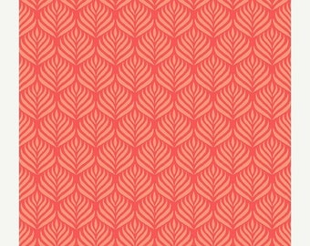 50% OFF CLEARANCE SALE Orange Flowers from Andover Fabric's The Color Collection