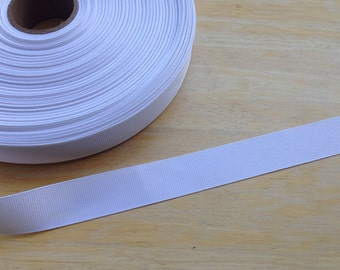 5 yards 7/8 inch white grosgrain ribbon - white ribbon, white grosgrain ribbon, grosgrain ribbon, white, hair bows, hair accessories