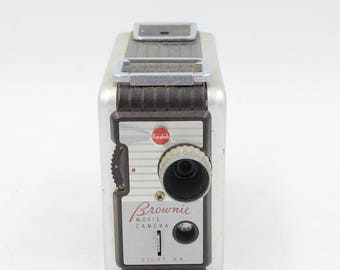 1950s Kodak Brownie 8mm Movie Camera Model 2 1956-1960 13mm f/2.3 Lens-- Cool Movie Camera!