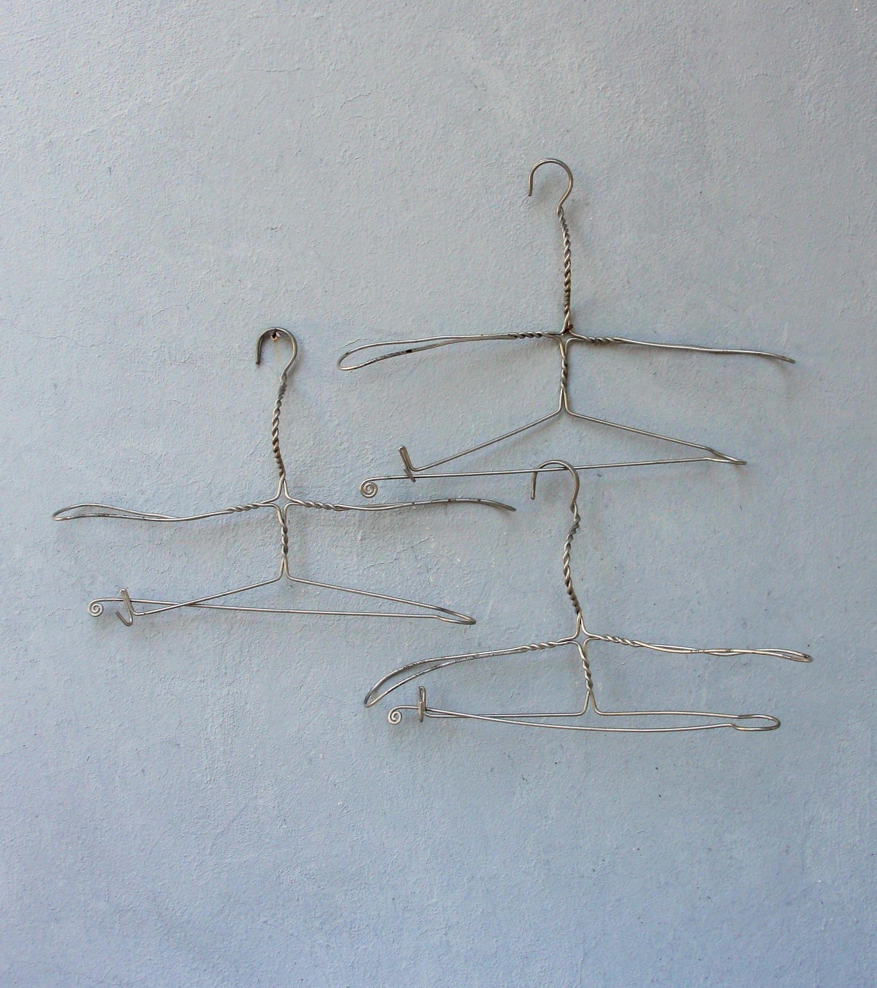 Antike Draht Kleiderbügel Vintage schwere starke