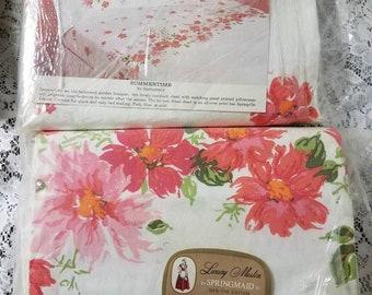2 Vintage Springmaid Summertime Full Flat Sheets NIP