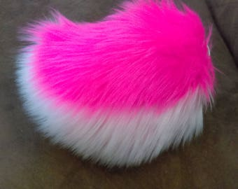 Double Pink Rabbit Tail