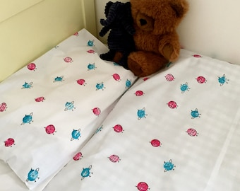 Hand Printed Cot Bed Linen