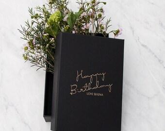 Personalised Name Birthday Keepsake Gift Box, custom gift box, birthday box, birthday gift wrap, birthday gift, custom birthday