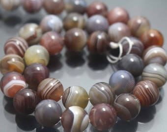 Natural Botswana Agate Beads,4mm/6mm/8mm/10mm/12mm Natural Madagasar Agate Beads,Striped agate Beads,15 inches one starand