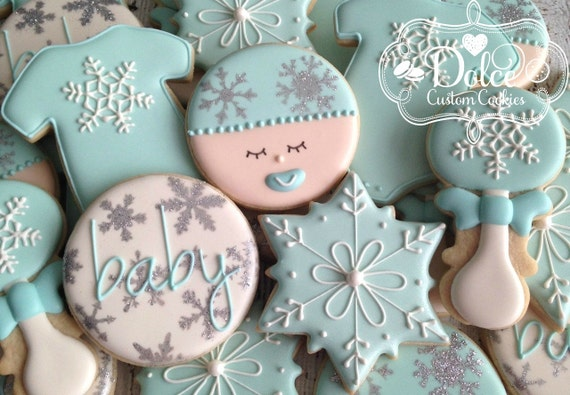 Awesome Items Similar To Winter Wonderland Baby Shower Cookies On Etsy