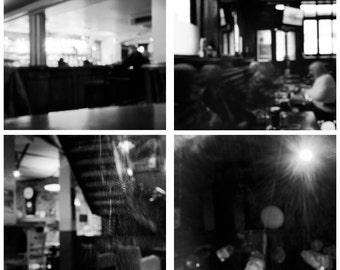 Pinhole Photography Set of 4 - Black and White Pinhole Photography - Small Art Print, 5x5 or 8x8