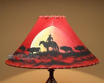 Western lamp shade etsy western lampshade 20 leather moonlight ride aloadofball Gallery