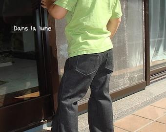 PDF e pattern - Kids boots cut pants - trousers size 4Y