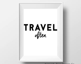 Travel Often Printable Travel Wall Art Printable Travel Room Decor Instant Download