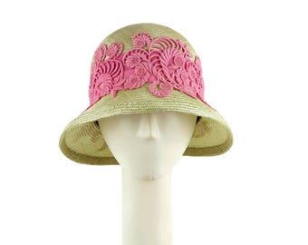 Mother of the Bride Hat, Wedding Hat, Summer Hat for Women, Cloche Hat, Womens Hat, Occasion Hat, Summer Cloche Hat, Ladies Straw Hat