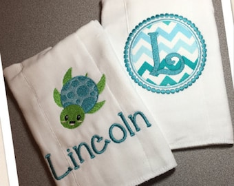 Baby Burp Cloths, Personalized Burp Cloth, Baby Burp Cloth, Burp Cloth Set, Baby Boy Burp Cloth