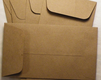 "Kraft Envelope, Craft Envelope, Kraft Paper Envelopes, 3-5/8"" x 6-1/2"", 24 PC"