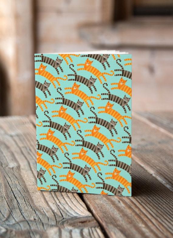A5 Cats Pattern - Notebook / Sketchbook / Journal