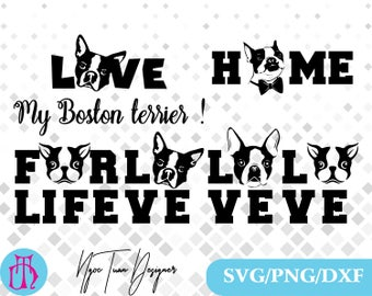 Boston terrier svg,png,dxf/Boston terrier clipart for Design,Print,Silhouette,Cricut and any more