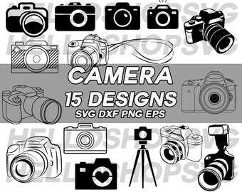 camera svg, digital camera svg, photography svg, tripod svg, photo taking svg, vinyl, iron on, silhouette, stencil, eps, png, decal
