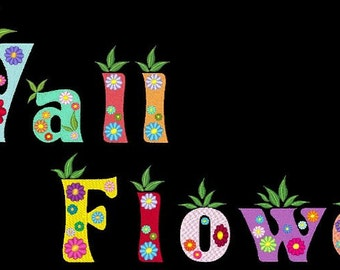 WALLFLOWERS - 98 Machine Embroidery Font Designs Instant Download 4x4 5x7 6x10 hoop (AzEB)