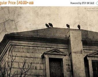 25% Memorial Day Sale Raven Crow print building architecture home decor Halloween