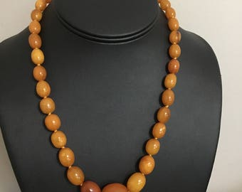 Vintage Mila Amber Graduated Necklace