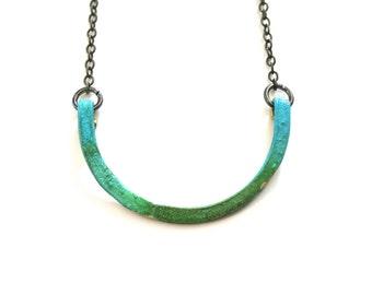 Patina Half Moon Necklace