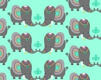 Rumble Elephants from Windham Fabrics - Elephants on Mint Green