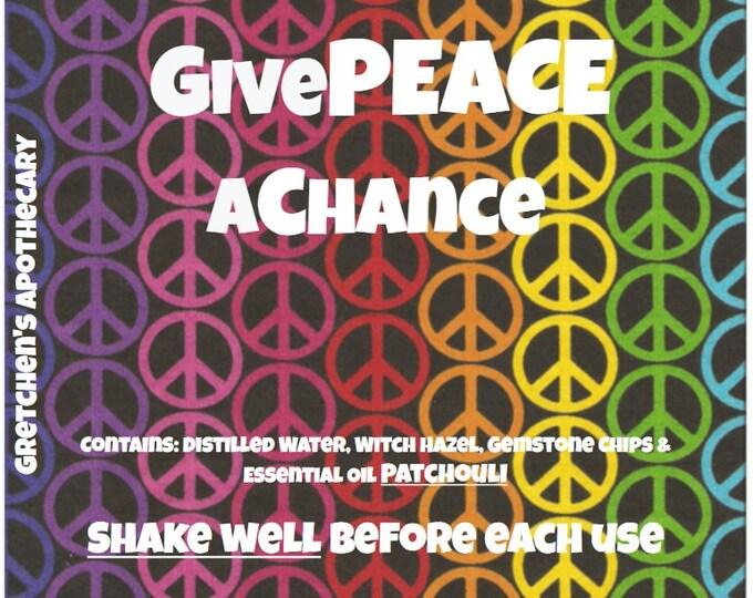 GivePEACEaChance Patchouli Body Spray with Semi Precious Gemstones 4oz
