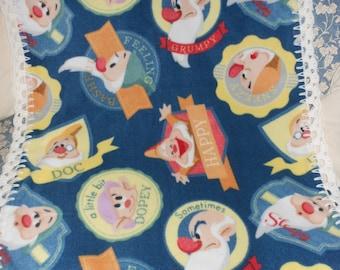 Snow White Seven Dwarfs Fleece Baby Blanket