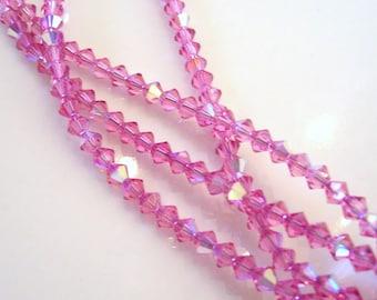 4mm Swarovski Rose Crystal Beads
