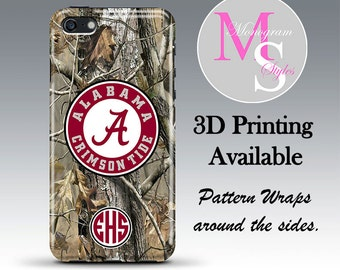 Monogram iPhone 7, 6S, 6S Plus Case Personalized Phone Case Alabama RealTree Camo iPhone 4, 4S Case iPhone 5, 5S, 5C, iPhone 6 6S Plus #2724