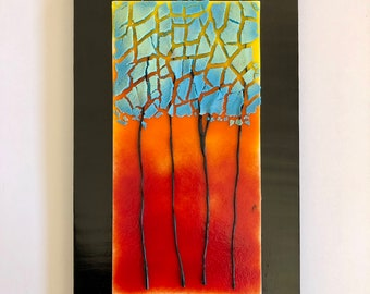 Great Fused Glass Art, Fused Glass, Handmade Fused Glass,fused Glass Wall Panel,