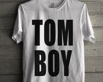 Men's TOMBOY Shirt Handmade T-Shirt #1195