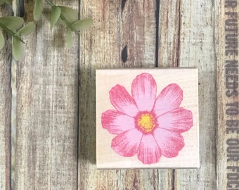 SALE Flower Cosmos wooden rubber stamp cherish series Kodomo no Kao