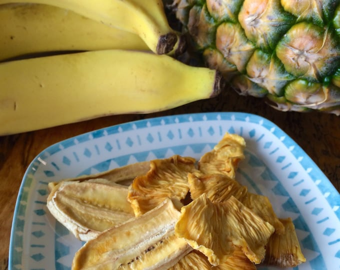 Gourmet Dried Pineapple and Banana Combo- 1.5oz