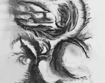 Charcoal Depths an original drawing