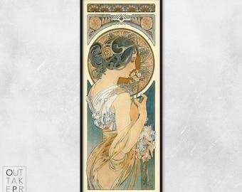 Art nouveau poster - Alphonse Mucha - Art nouveau print - Primrose, P005