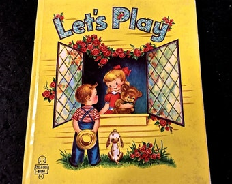 Vintage Lets Play, Tell a Tale Book, Whitman Publishing, by Georgiana and Illustrated by Gavy, Made in USA, Copyright 1952
