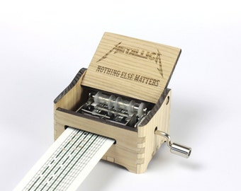 Nothing Else Matters - Metallica Crank Paper Strip Music Box