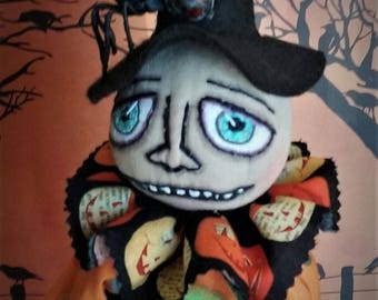 Boris And Cleo ~ One Of A Kind ~ Folk Art ~ Collectible ~ Halloween ~ Clown