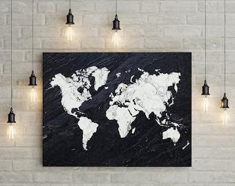 world map wall art world map print printable world map poster marble print