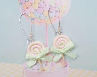 earrings lollipops polymer clay