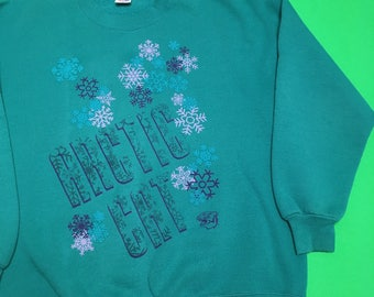 90s Arctic Cat Sweatshirt - Arctic Cat Snowmobiles - Vintage Arctic Cat Sweater - Arctic Cat Crewneck - Vintage Snowmobile Sweater - 90s